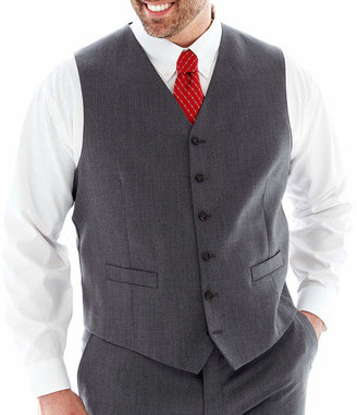 STAFFORD Stafford Executive Super 100 Wool Suit Vest - Big & Tall