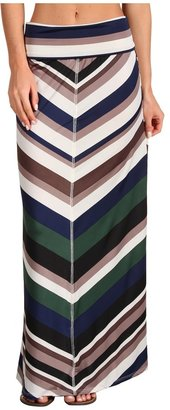 Lucy-Love Lucy Love - Stripe Canyon Skirt (Sapphire) - Apparel