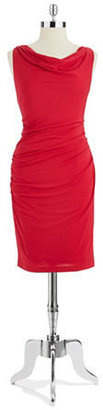 Vera Wang Cowl Necked Sheath Dress