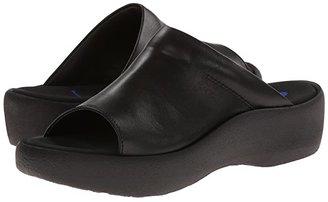 Wolky Nassau (Black Smooth) Women's Sandals
