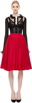 Natasha Zinko Midi Pleated Skirt