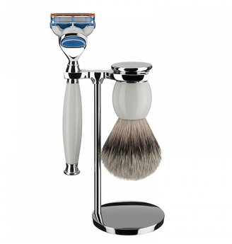 Mühle Sophist Porcelain Shaving Set - Silvertip Badger + Cartridge Razor (S93P84F)