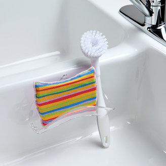 Container Store Sponge & Brush Holder Clear