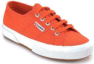 Superga 2750 - Orange Canvas Platform Sneaker