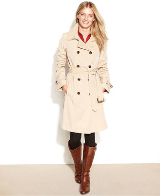 Calvin Klein Coat, Double-Breasted Belted Trench Coat