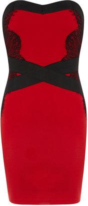 Dorothy Perkins Red/Black bodycon dress
