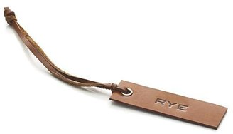 Crate & Barrel Leather Rye Decanter Tag