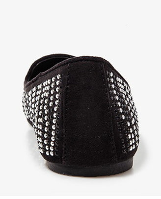 Forever 21 Studded Rhinestone Loafers