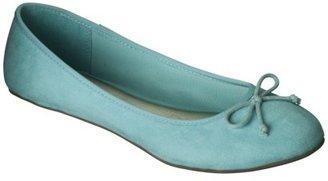 Merona Women's Madge Ballet Flat - Aqua Blue