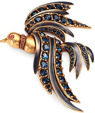 Oscar de la Renta Crystal Bird of Paradise Brooch