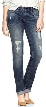 Gap 1969 Destructed Real Straight Jeans
