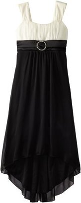Ruby Rox Girls 7-16 Tuxedo with Rhinestones Sheer Matte Jersey Dress