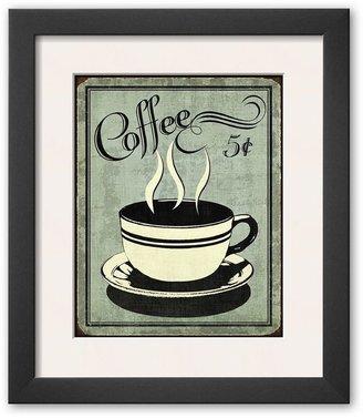 "Art.com Retro Coffee I"" Framed Art Print by N. Harbick"