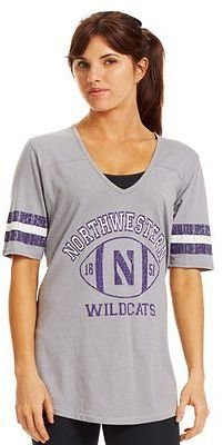 Under Armour Women's Legacy Northwestern Sleeve Stripe T-Shirt