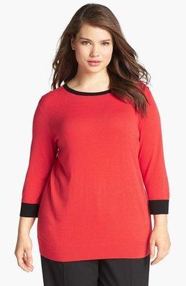 Sejour Colorblock Pullover Sweater (Plus Size)