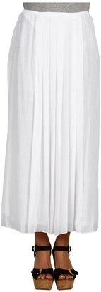 Nic+Zoe Drifty Mesh Long Skirt (Paper White) - Apparel