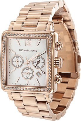 Michael Kors WATCH Crystal Detail Square Face Watch