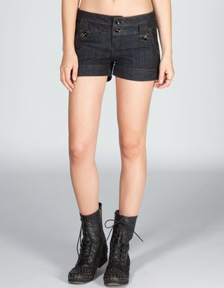 BOOM BOOM JEANS Tab Front Womens Denim Shorts