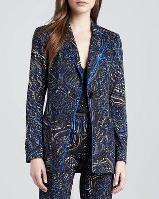 Nanette Lepore Mystical Printed Twill Jacket