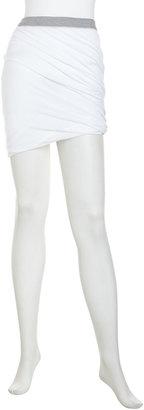 Alexander Wang Contrast-Waist Gathered Jersey Skirt