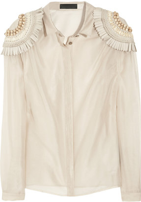 Burberry Silk and cotton-organza blouse