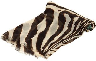 Lauren Ralph Lauren Zebra Square Scarf (Moda Cream) - Accessories