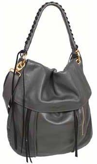 "Christopher Kon PL0558"" Black Leather Handbag"