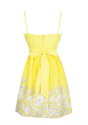 Delia's Yellow Floral Easter Dress