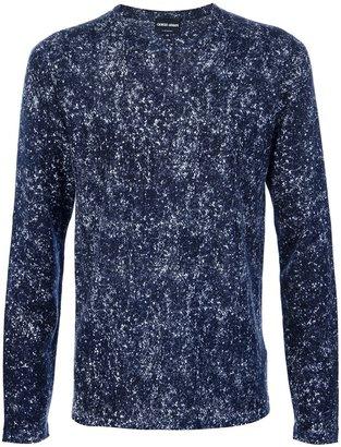 Giorgio Armani denim effect sweater