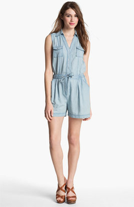 Vince Camuto Two by Chambray Romper Vintage Large