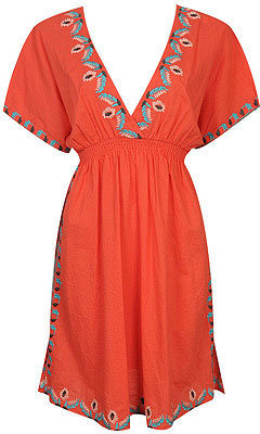 Forever 21 Kali Embroidered Tunic