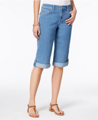 Style & Co Cuffed Denim Skimmer Shorts, Only at Macy's $24.98 thestylecure.com