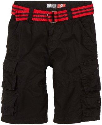 Southpole Kids Boys 8-20 Cargo Shorts With Twill Stripe Belt