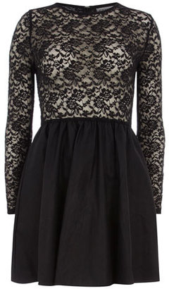 Dorothy Perkins Black leather and lace skater
