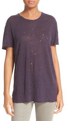 Women's Iro 'Clay' Cutout Linen Tee $145 thestylecure.com