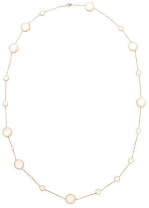 "Ivanka Trump Rose Gold Chain with Mother-of-Pearl and Diamonds, 36"" $3,136 thestylecure.com"