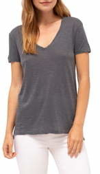 Stateside Heathered Jersey V-Neck Tee