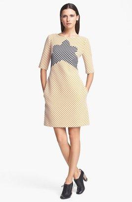 Carven Zigzag Tweed Dress