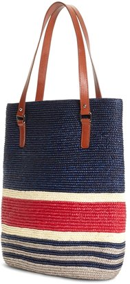Brooks Brothers Straw Magnetic Closure Tote
