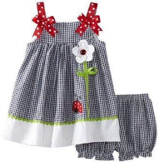 Rare Editions Baby-Girls Infant Seersucker Dress