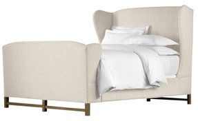 Wingback Bed with Footboard