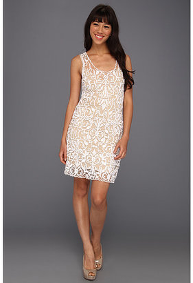 Hale Bob Isabeli Embroidered Mesh Dress