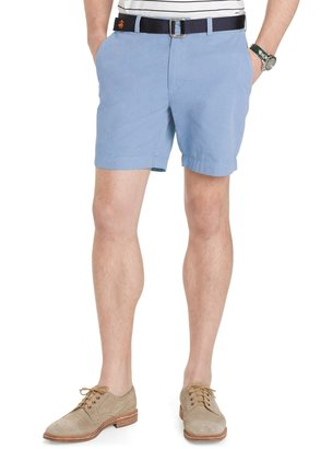 Brooks Brothers Garment-Dyed Plain-Front 7 Inch Twill Shorts