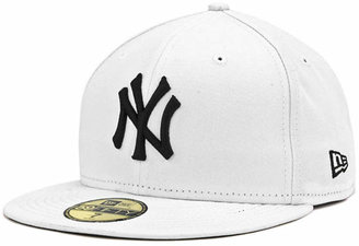 New Era New York Yankees MLB White And Black 59FIFTY Cap $34.99 thestylecure.com