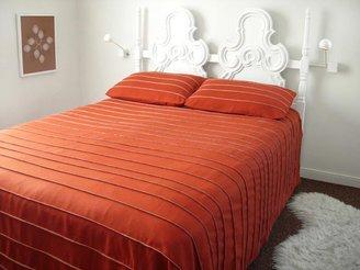 Wallter Strip Wool Bedspread