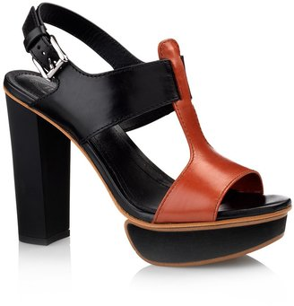 Tod's High-Heel Leather Sandals