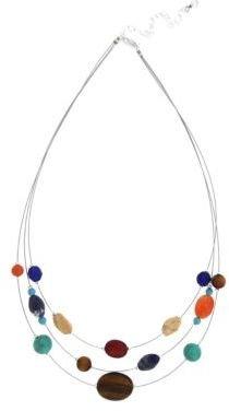 Lord & Taylor Mixed Bead Three-Row Necklace