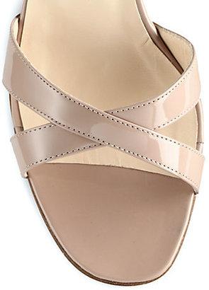 Manolo Blahnik Callamu Patent Leather Sandals