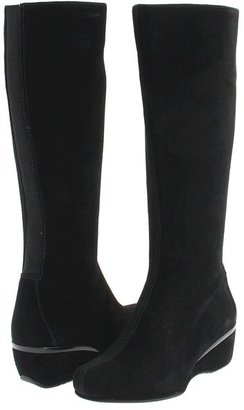 Aetrex Essence Vanessa (Black Suede) - Footwear
