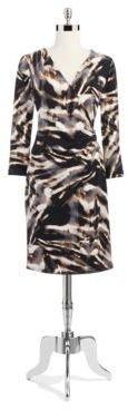 Calvin Klein Animal Print Wrap Dress